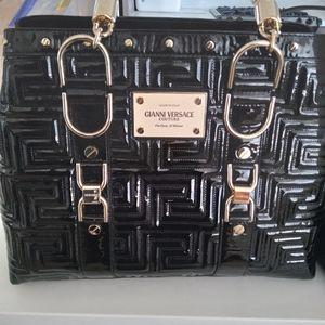Versace Black Leather Purse